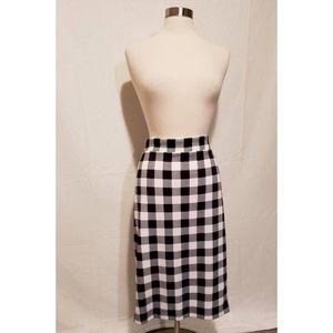 Torrid Straight Midi Skirt Black & White Plaid 2